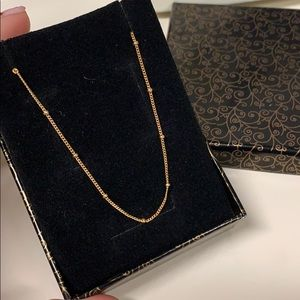Beautiful 14kt gold plated delicate necklace